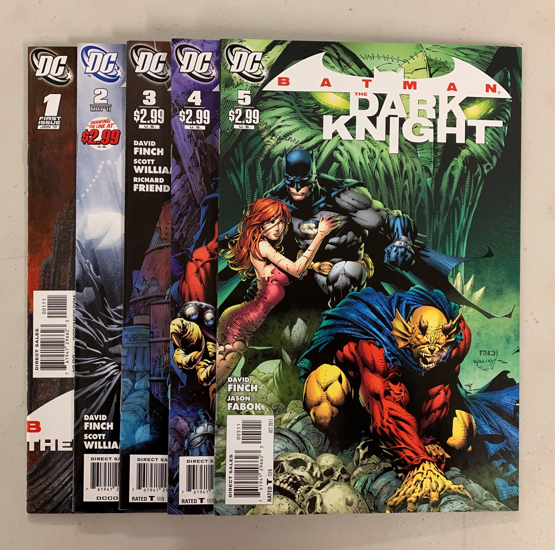 Batman The Dark Knight (DC 2011) #1-5 Set 1 2 3 4 5 David Finch (8.5+)