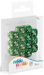 Oakie Doakie - 12mm Positive/Negative 14d6 Marble & Gemidice - Green