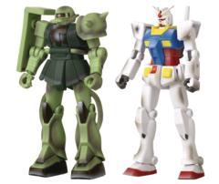 Gundam Infinity - RX-78-02 Gundam vs MS-06 Zaku II 4.5in Action Figures (2021 Convention Exclusive)