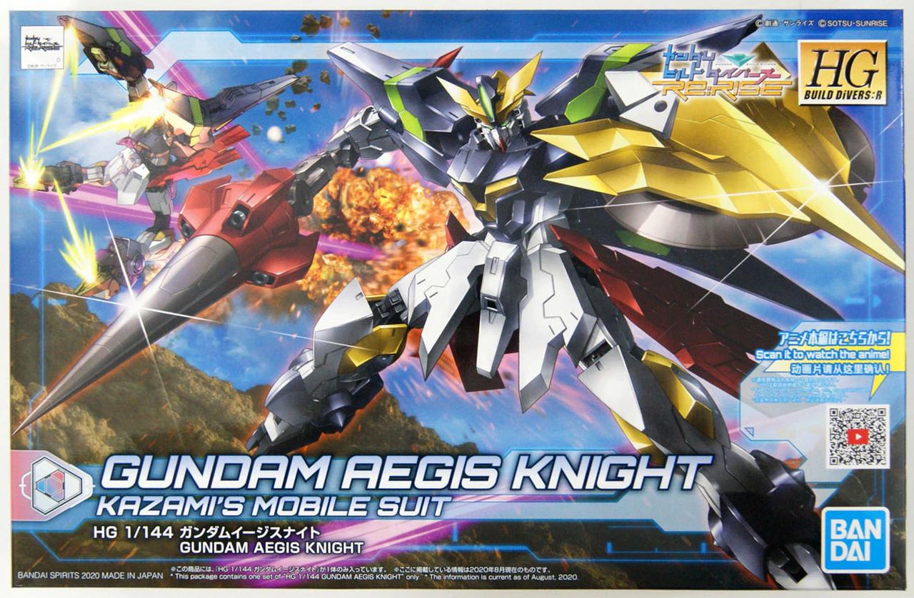 Gundam HG Build Divers:R - Gundam Aegis Knight Kazamis Mobile Suit (1/144)