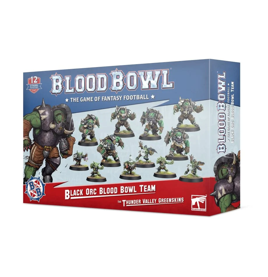 Blood Bowl - Black Orc Blood Bowl Team:  The Thunder Valley Greenskins
