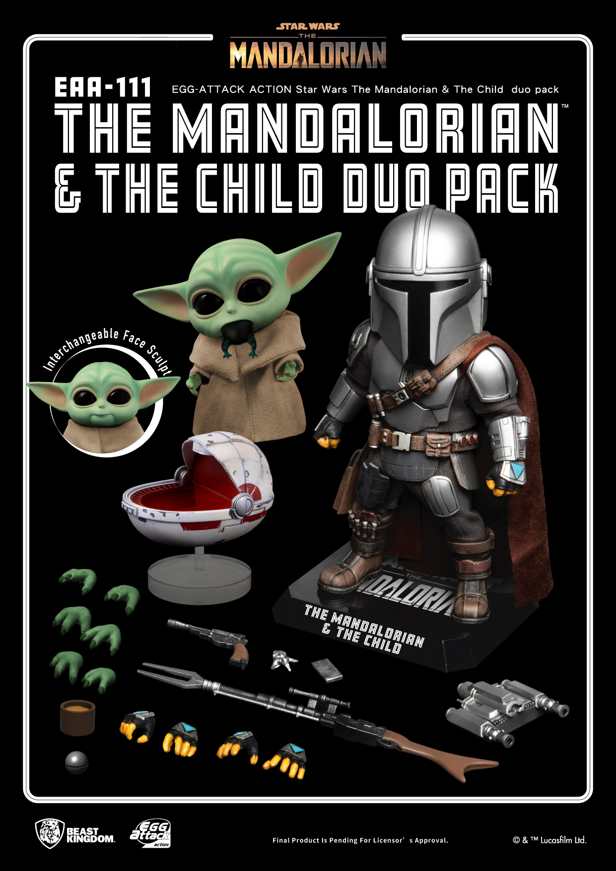 Star Wars The Mandalorian - Mandalorian & The Child Duo Action Figure Set (EAA-111)