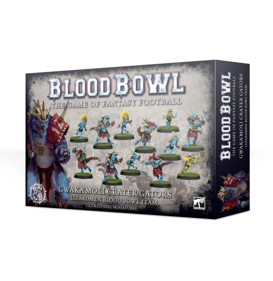 Blood Bowl - Gwakamoli Crater Gators Lizardmen Blood Bowl Team