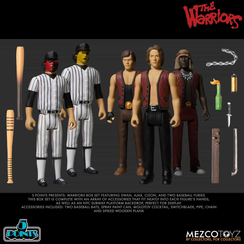 5 Points - The Warriors Action Figure Box Set (damaged box)