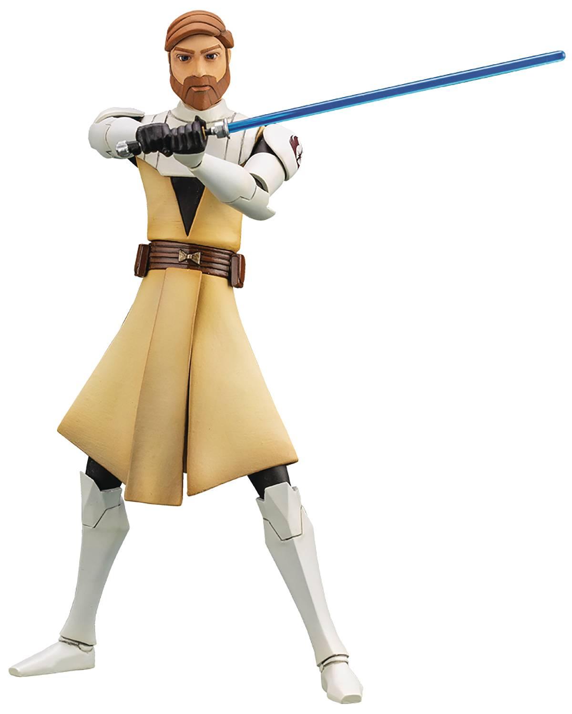 Star Wars Kotobukiya - Clone Wars - Obi Wan Kenobi Artfx+ Statue