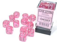 Chessex - Borealis Pink/Silver 12D6 - CHX27784