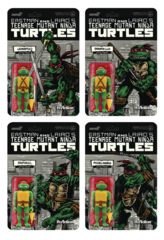 ReAction Figures - TMNT - Teenage Mutant Ninja Turtles Mirage Variant PX Exclusive (Set of 4)
