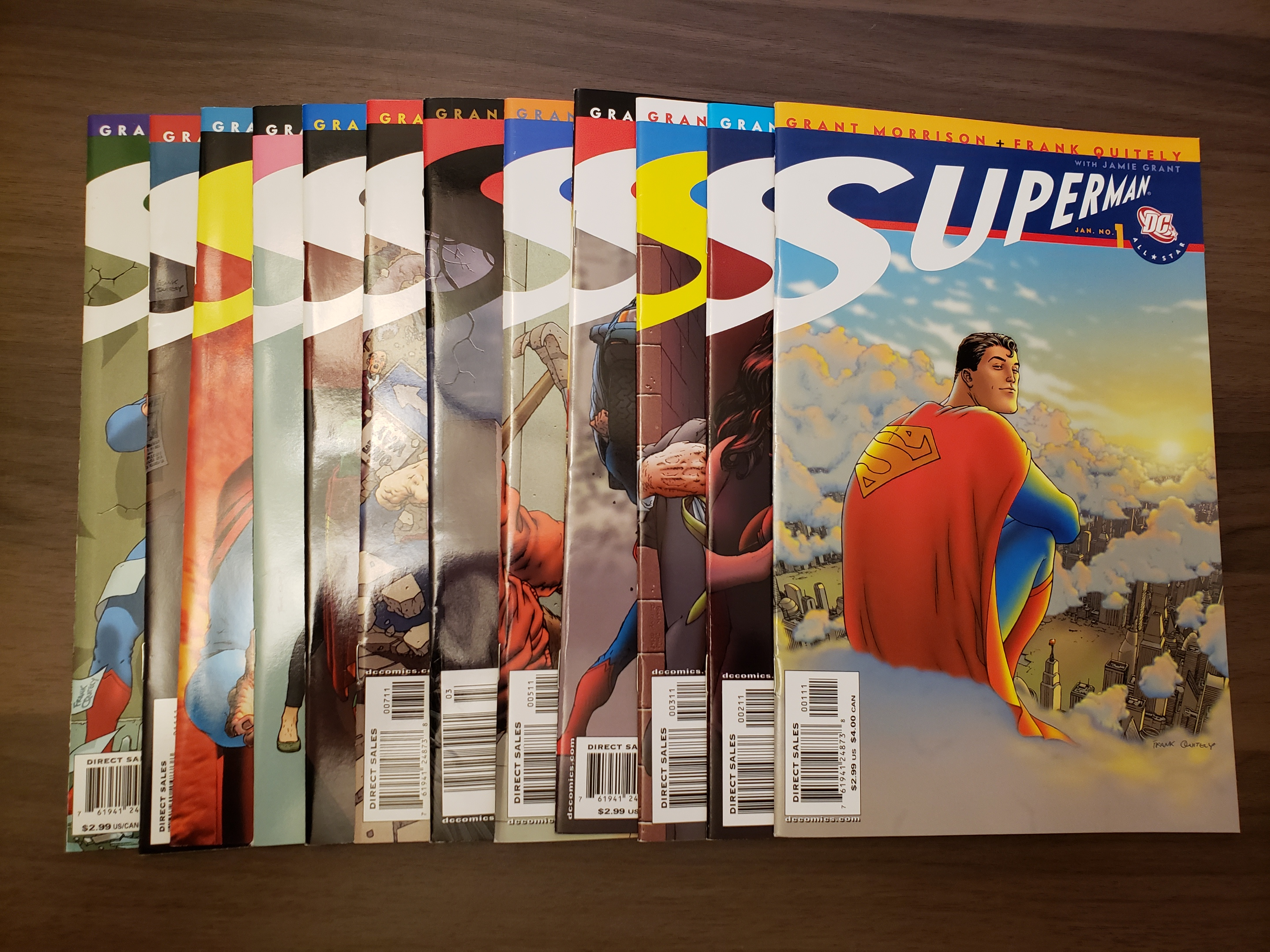 All-Star Superman (2005) #1-12 (8.0+) Complete Series by Grant Morrison & Frank Quietly