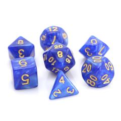 Die Hard - Blue Swirl With Gold 7pc