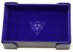 Die Hard - Castle Magnetic Rectangle Dice Tray - Blue Velvet