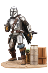 Star Wars - The Mandalorian and The Child ArtFx PVC Statue
