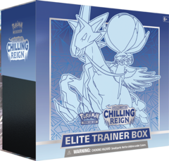 SWSH6 - Chilling Reign Elite Trainer Box: Ice Rider Calyrex (see item description, use wishlist to be notified)