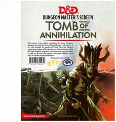 Dungeons & Dragons 5E Dungeon Master's Screen Tomb of Annihilation