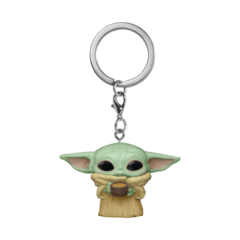 Pocket Pop! - Star Wars The Mandalorian - The Child with Cup Keychain
