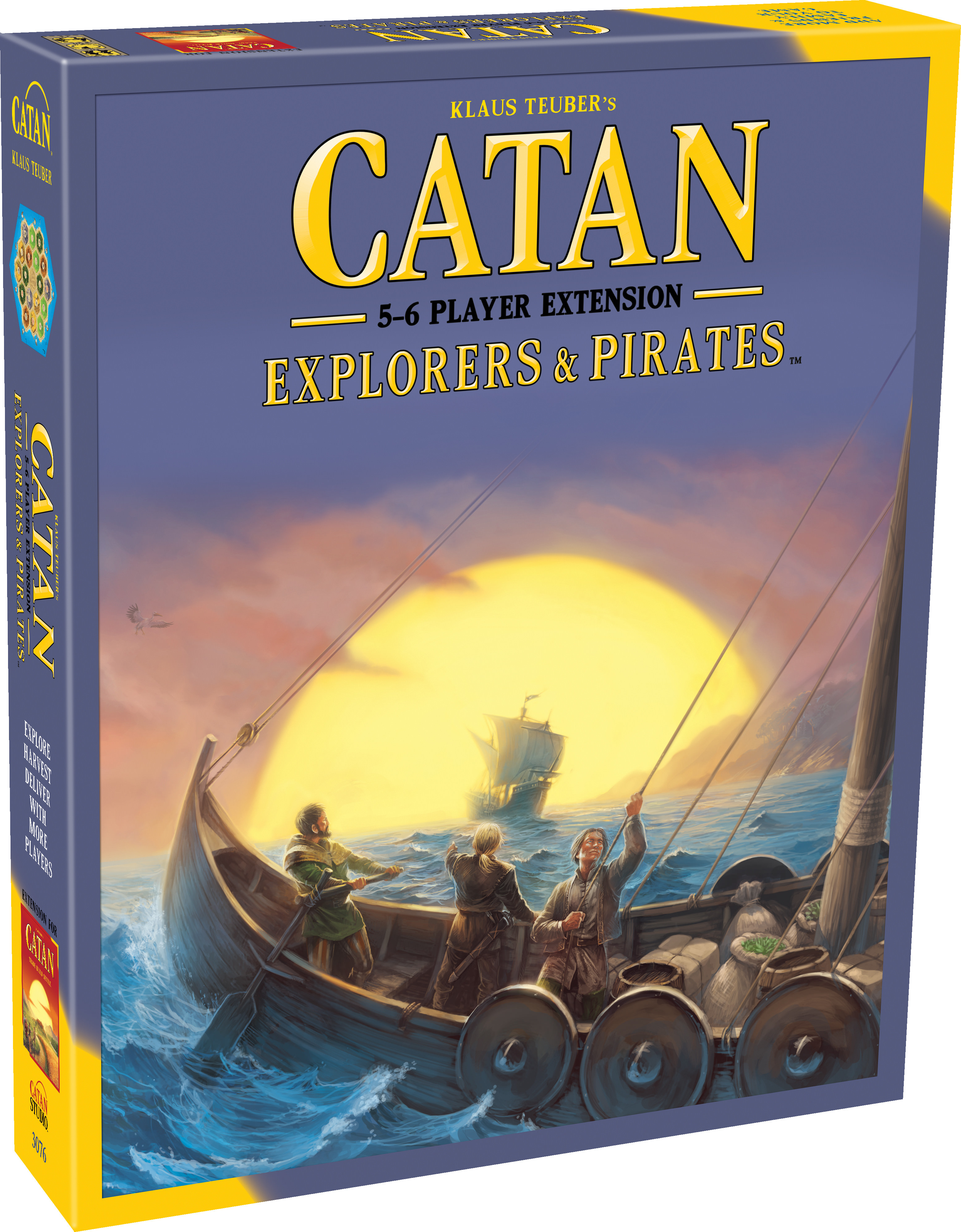 Catan 5th Edition - Explorers & Pirates 5-6 Player Expansion