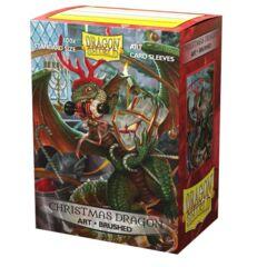 Dragon Shield - Brushed Art Sleeves - Christmas Dragon 2020 100 ct