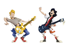 Toony Classics - Bill & Ted's Excellent Adventure - Wyld Statllyns 2 Pack Action Figure Set