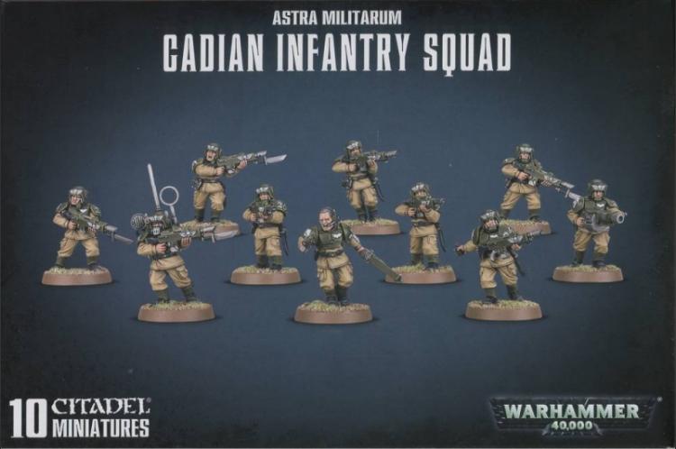 Astra Militarum - Cadian Infantry Squad