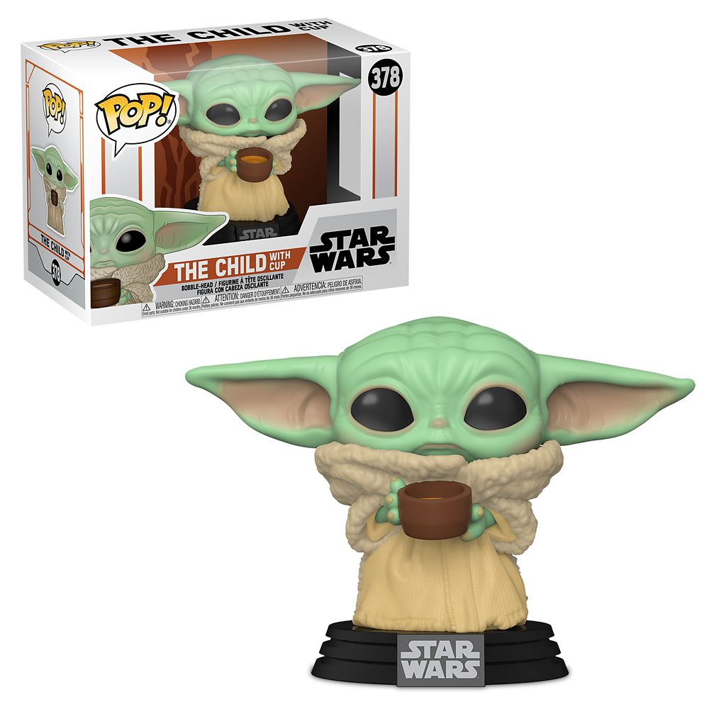 Pop! Star Wars Mandalorian - The Child with Cup Bobble-Head (Funko #378)