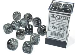 Chessex - Borealis Light Smoke/Silver 12D6 - CHX27778