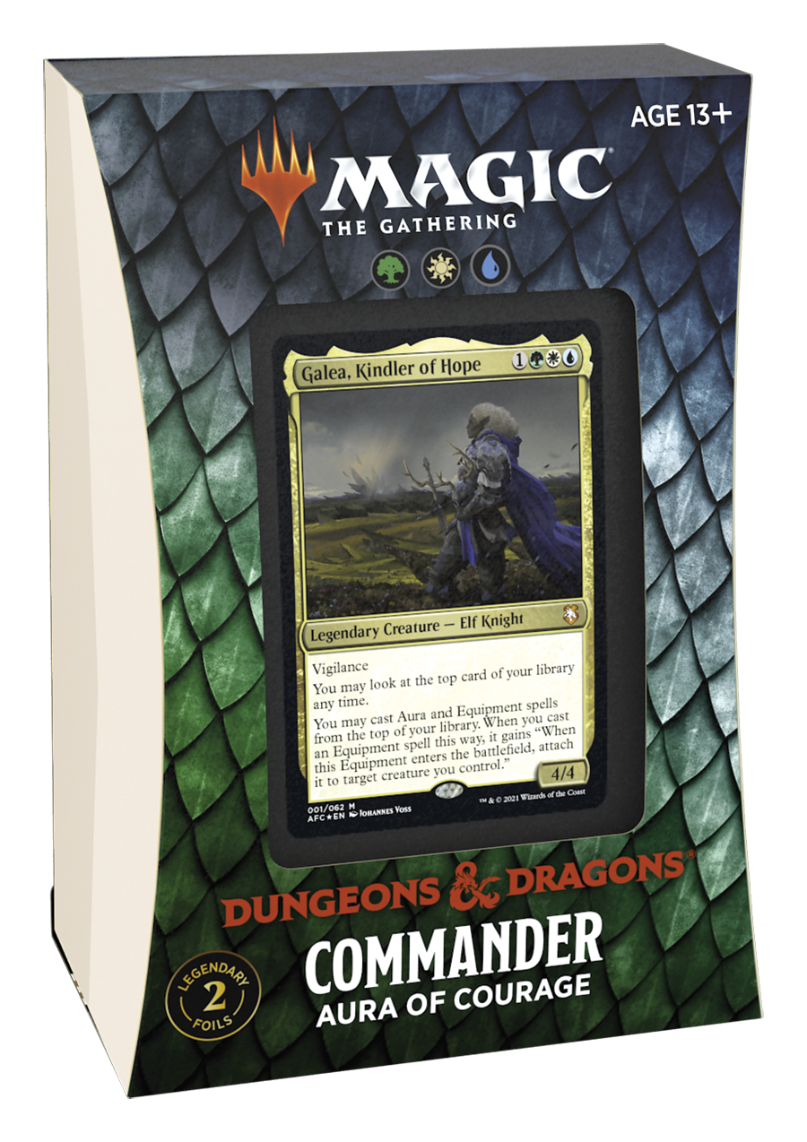 Adventures in the Forgotten Realms Commander Deck: Aura of Courage (No store credit or pay in store)