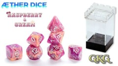 Gate Keeper Games - Aether Dice - Raspberry & Cream - 7pc