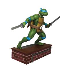TMNT 1:8 Scale Leonardo PVC Statue