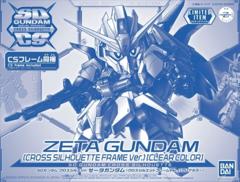 Gundam SD Cross Silhouette - Zeta Gundam (Cross Silhouette Frame Ver.) (Clear Color) Exclusive