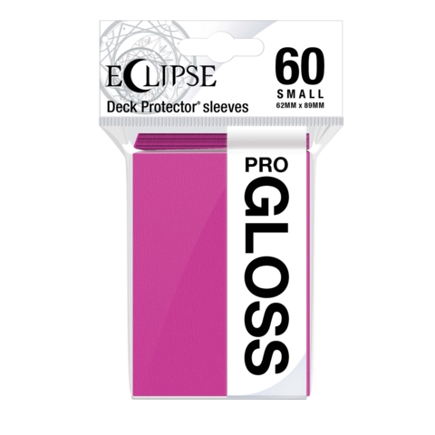Ultra Pro Glossy Eclipse Small Sleeves - Hot Pink (60ct)