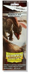 Dragon Shield Perfect Fit Sealable Standard Sleeves - Smoke (100ct)