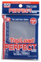 KMC Perfect Size Standard Sleeves - Clear (100 ct)