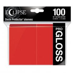 Ultra Pro Glossy Eclipse Standard Sleeves - Apple Red (100ct)