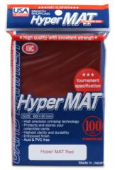 KMC Hyper Mat Standard Sleeves - Red (100ct)