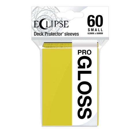 Ultra Pro Glossy Eclipse Small Sleeves - Lemon Yellow (60ct)
