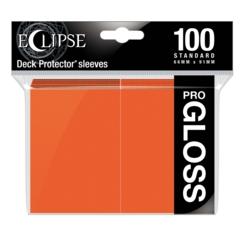 Ultra Pro Glossy Eclipse Standard Sleeves - Pumpkin Orange (100ct)