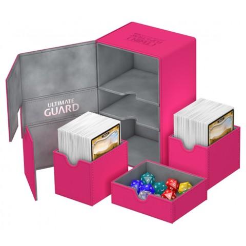 Ultimate Guard Twin FlipnTray 160+ Deck Case - Pink