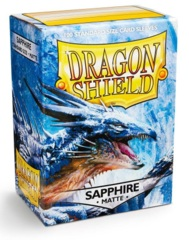 Dragon Shield Matte Standard Sleeves - Sapphire (100ct)