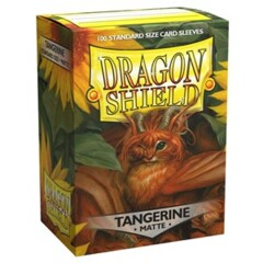 Dragon Shield Matte Standard Sleeves - Tangerine (100ct)