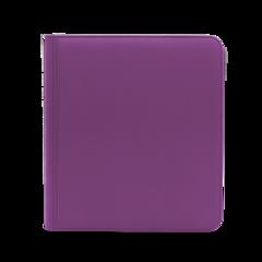 Dex Protection 12 Pocket Zipper Binder - Purple