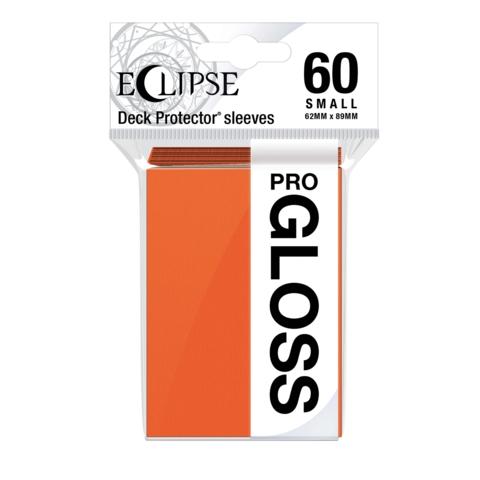 Ultra Pro Glossy Eclipse Small Sleeves - Pumpkin Orange (60ct)