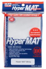 KMC Hyper Mat Standard Sleeves - White (100ct)
