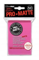 Ultra Pro PRO-Matte Standard Sleeves - Bright Pink (50ct)