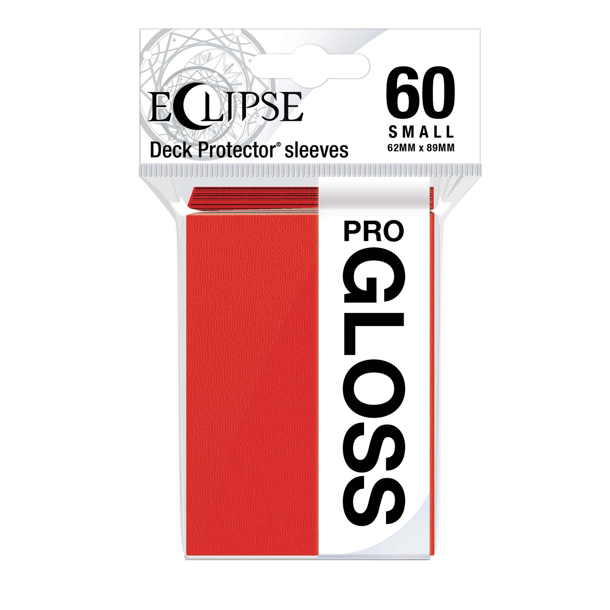 Ultra Pro Glossy Eclipse Small Sleeves - Apple Red (60ct)