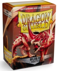 Dragon Shield Matte Standard Sleeves - Ruby (100ct)