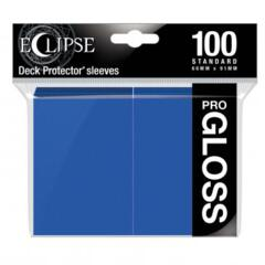 Ultra Pro Glossy Eclipse Standard Sleeves - Pacific Blue (100ct)