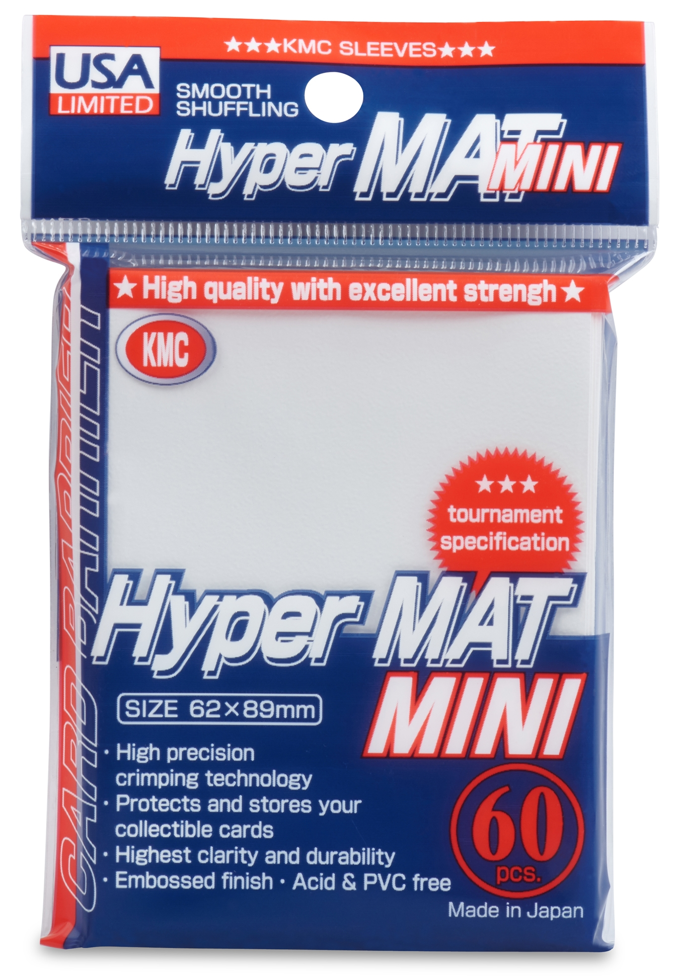 KMC Hyper Mat Small Sleeves - White (60ct)
