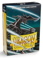 Dragon Shield Matte Small Sleeves - Jet (60 ct)