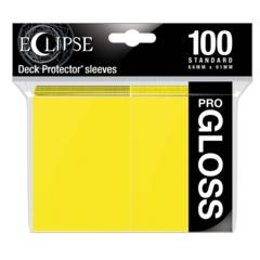 Ultra Pro Glossy Eclipse Standard Sleeves - Lemon Yellow (100ct)