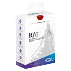 Ultimate Guard Katana Standard Sleeves - Red (100ct)