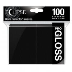 Ultra Pro Glossy Eclipse Standard Sleeves - Jet Black (100ct)